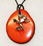 Charm Necklace Red Eye Frog