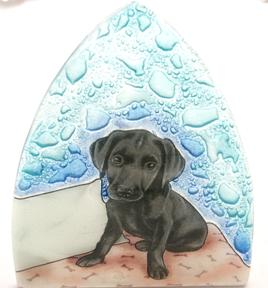 Black Lab Dog Glass Nightlight