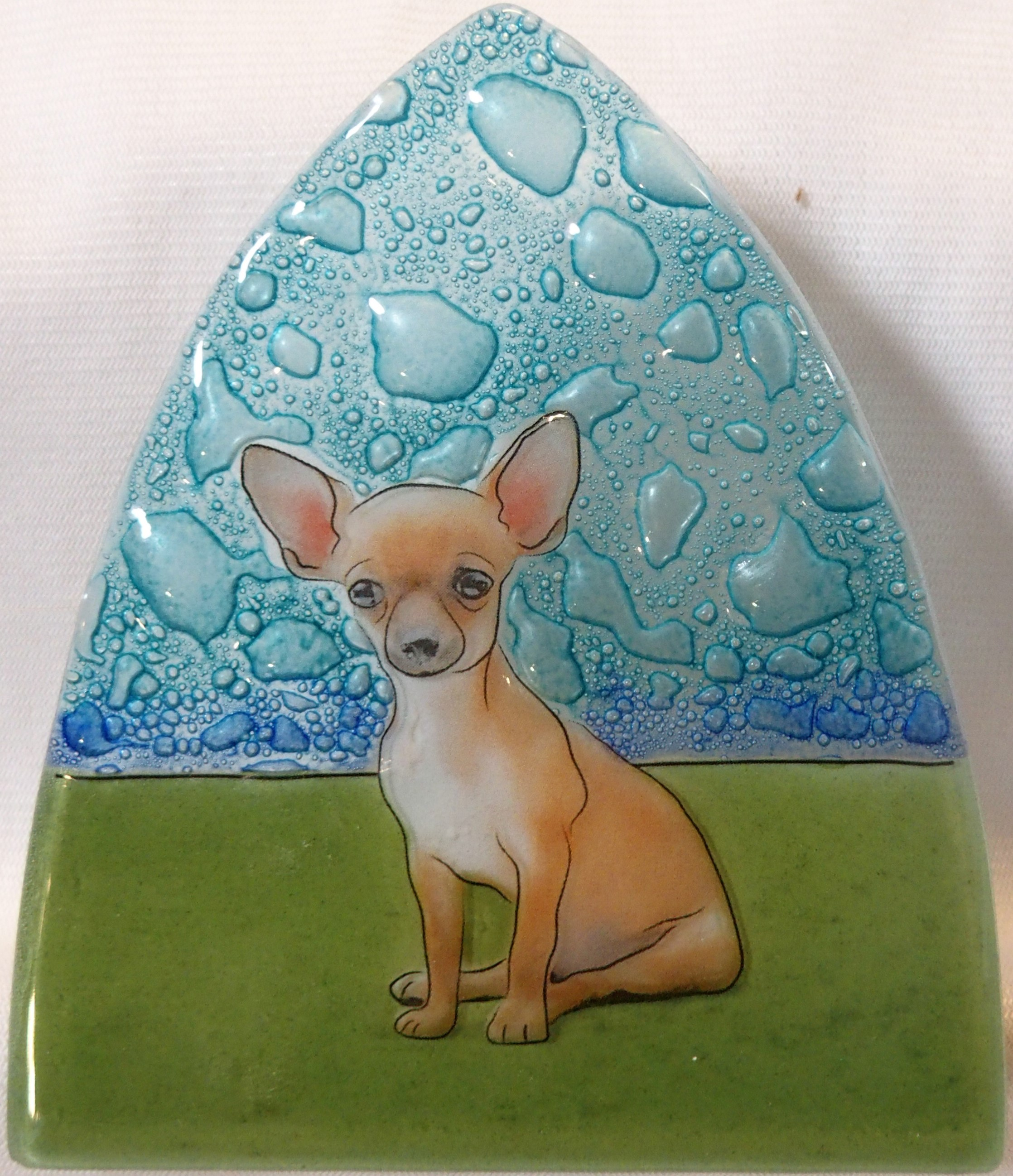 Chiuahua Dog Glass Nightlight