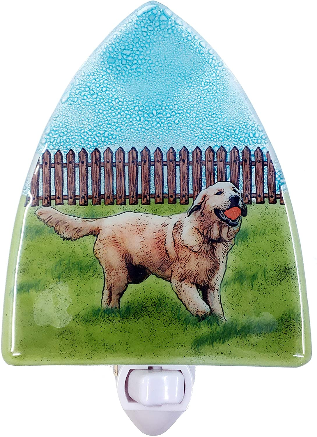 Golden Retriever Dog Glass Nightlight