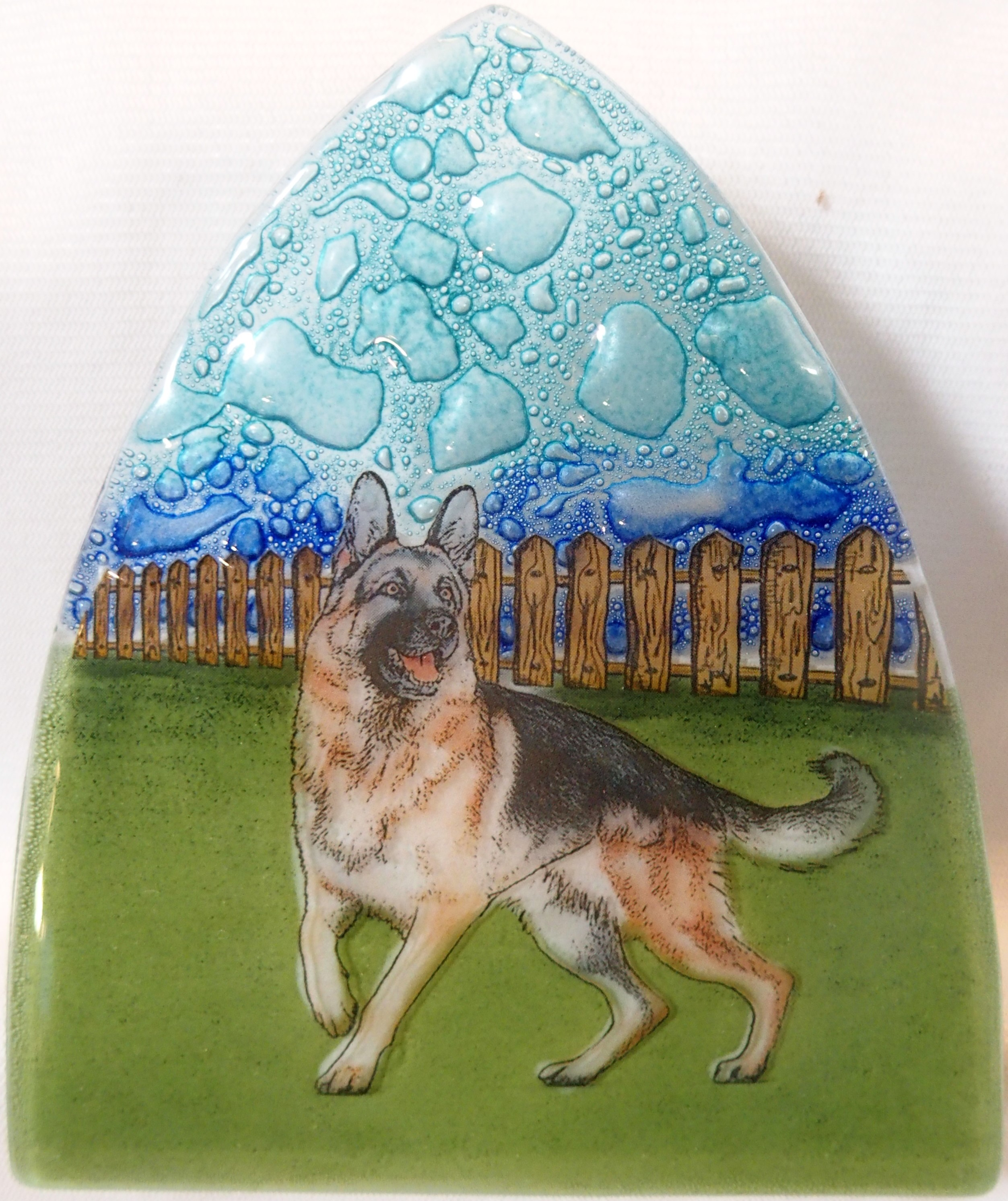 German shephard Dog Glass Nightlight
