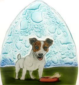 Jack Russel Dog Glass Nightlight