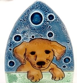 Lab Puppy Dog Glass Nightlight