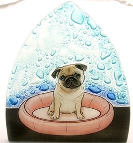 Pug Dog Glass Nightlight