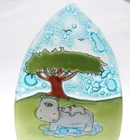 Hippo Glass Nightlight