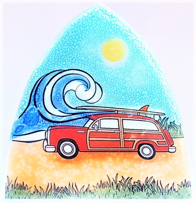 Surfing Woodie Car Nightlight