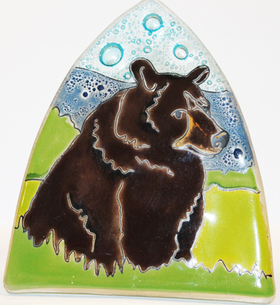 Black Bear Glass Night Light