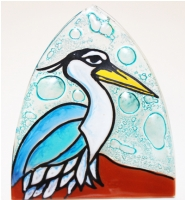 Blue Heron Glass Night Light
