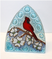 Cardinal in Dog Wood Glass Night Light