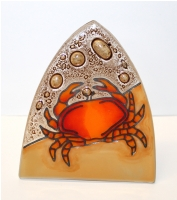 Red Crab Glass Night Light