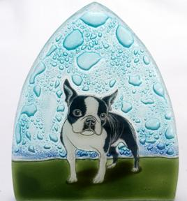 Boston Terrier Glass Night Light
