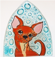 Dog Chiwauwa Glass night Light
