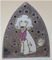 Poodle Glass Night Light