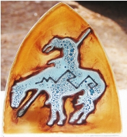 End of the Trail Indian Horse Glass Night Light