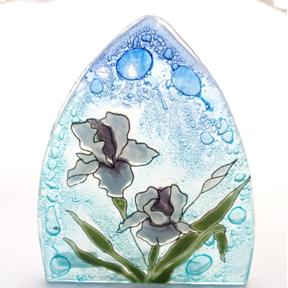 Iris Glass Night Light