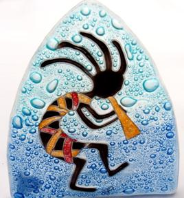 Kokopeli Glass Night Light