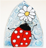 Lady Bug Glass Night Light