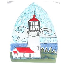 Cabo Blanco Light House Glass Night Light