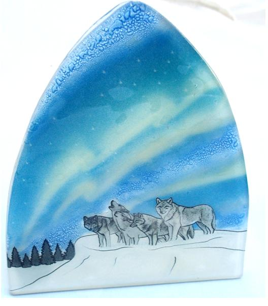 Northerm Lights Wolf Night Light