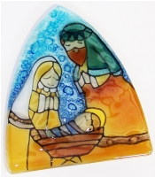 Nativity Scene Glass Night Light