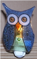 Owl Glass Night Light