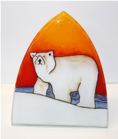 Polar Bear Glass Night Light