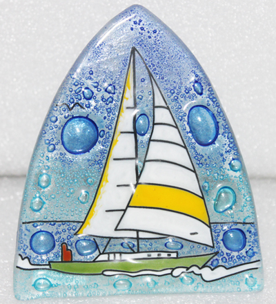 Sail Boat Glass Night Light