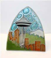 Space Needle Glass Night Light