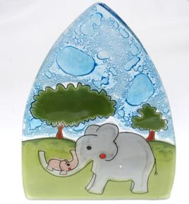 Elephant Glass Night Light