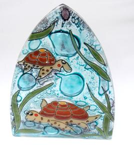 Sea Turtle Glass Night Light