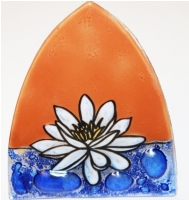 White Lotus Glass Night Light