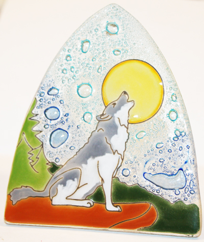 Wolf Glass Night Light