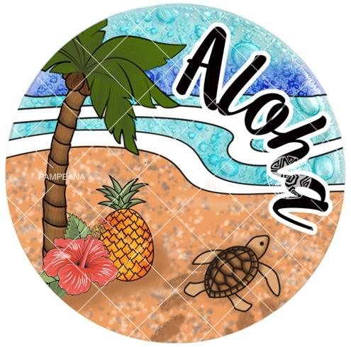 Hawaiian Scene Ornament