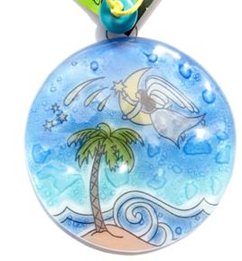 Angen with Palm Tree Ornament