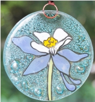 Blue Columbine Ornament