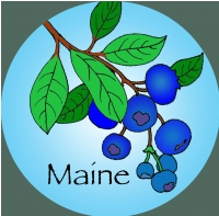 Blue Berries (wording is optional) Ornament