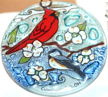 Cardinal-Chickadee - Ornament