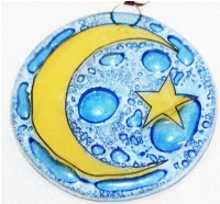 Crescent on yellow  Ornament