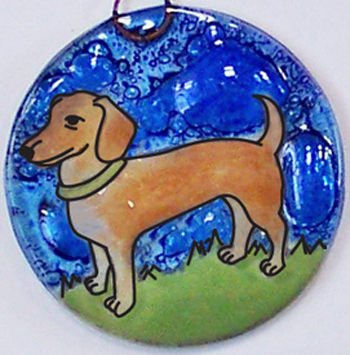 Dachshund Dog Ornament
