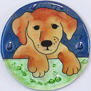 Yellow Labrador Pappy Dog Ornament