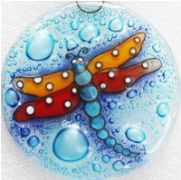 Dragon Fly YellowRed Winds Ornament