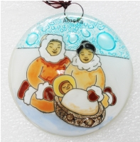 Eskimo Family Ornament