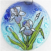 Iris Flower Ornament