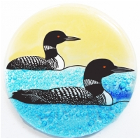 Loon Swimming Ornament