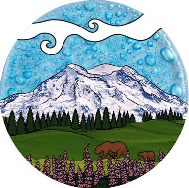 Mount Rainier Ornament