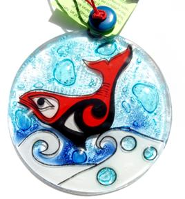 Totemic Salmon Ornament
