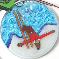 Skier Red Sweater Ornament