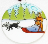 Sled Dogs Ornament