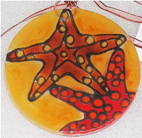 Color Star Fish Ornament