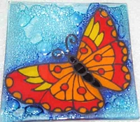 Butterfly (red)  Medium Plate